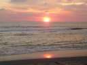 варкала, закат солнца